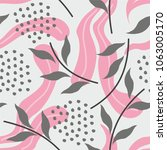seamless pattern with abstract... | Shutterstock .eps vector #1063005170