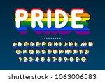 original display rainbow font... | Shutterstock .eps vector #1063006583