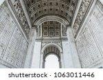 arc de triomphe in paris  france   Shutterstock . vector #1063011446
