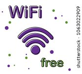 wi fi icon vector illustration... | Shutterstock .eps vector #1063022909
