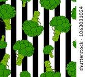 broccoli hand drawn vector... | Shutterstock .eps vector #1063031024