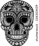 psychedelic decorated scull | Shutterstock .eps vector #106303439