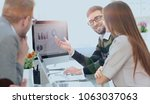business team discussing... | Shutterstock . vector #1063037063
