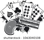 aces and eights  the dead mans... | Shutterstock .eps vector #1063040108