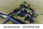 aerial top down photo single... | Shutterstock . vector #1063042106