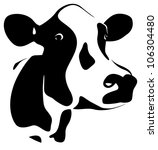 abstract cows head | Shutterstock .eps vector #106304480