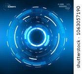 futuristic sci fi hud circle... | Shutterstock .eps vector #1063057190
