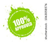 approved blot stamp... | Shutterstock .eps vector #1063058576