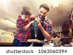 family  carpentry  woodwork and ... | Shutterstock . vector #1063060394
