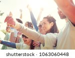 volunteering  charity and... | Shutterstock . vector #1063060448