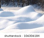 Fresh Snow Cover In Dunes At...