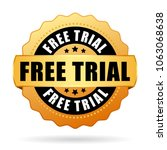 free trial golden badge icon...