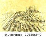 wine   grape illustration. | Shutterstock . vector #106306940