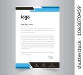 elegant black   blue letterhead ... | Shutterstock .eps vector #1063070459