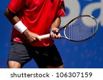 a tennis player waiting for a... | Shutterstock . vector #106307159
