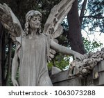 statue in the cemetery of... | Shutterstock . vector #1063073288