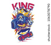 the king illustration | Shutterstock .eps vector #1063078790