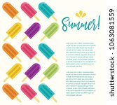 summer popsicle composition  ... | Shutterstock .eps vector #1063081559
