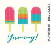 summer popsicle composition  ... | Shutterstock .eps vector #1063082399