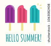 summer popsicle composition  ... | Shutterstock .eps vector #1063082408
