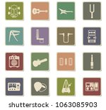 guitar and accessories web... | Shutterstock .eps vector #1063085903