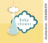 baby shower card | Shutterstock .eps vector #1063086359