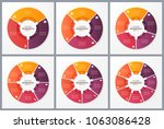 circle chart templates with 3 4 ... | Shutterstock .eps vector #1063086428