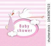 baby shower card | Shutterstock .eps vector #1063087523