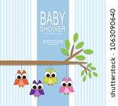 baby shower card | Shutterstock .eps vector #1063090640