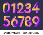 the set of numbers from 0 to 10 | Shutterstock .eps vector #1063092809
