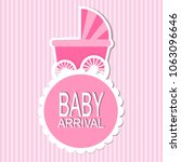 baby arrival card | Shutterstock .eps vector #1063096646