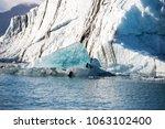 jokulsarlon ice lagoon in... | Shutterstock . vector #1063102400