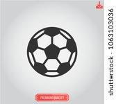 soccer ball icon football... | Shutterstock .eps vector #1063103036