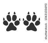 animal footprint icon.black... | Shutterstock .eps vector #1063103693