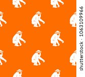 macaque pattern repeat seamless ... | Shutterstock . vector #1063109966