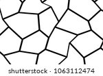 black and white irregular grid  ... | Shutterstock .eps vector #1063112474