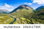 country town  river and...   Shutterstock . vector #1063117304
