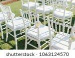 setup wedding ceremony | Shutterstock . vector #1063124570