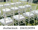 setup wedding ceremony | Shutterstock . vector #1063124594
