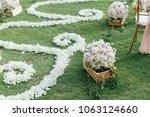 setup wedding ceremony | Shutterstock . vector #1063124660