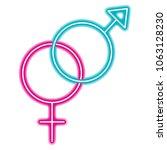 gender male and female crossed... | Shutterstock .eps vector #1063128230