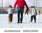 family having fun at the... | Shutterstock . vector #106313348