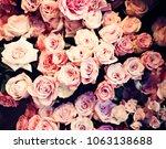 vintage bouquet of roses   Shutterstock . vector #1063138688