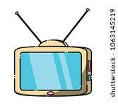 retro television icon  | Shutterstock .eps vector #1063145219