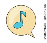 speech bubble with musical note   Shutterstock .eps vector #1063147439