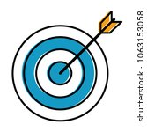 target arrow isolated icon | Shutterstock .eps vector #1063153058
