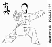 sport. wu shu. china. | Shutterstock . vector #1063153499