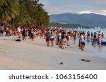 boracay philippines april 06 ...   Shutterstock . vector #1063156400