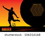 soccer background   vector... | Shutterstock .eps vector #106316168