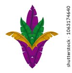 carnival feathers ornament... | Shutterstock .eps vector #1063174640